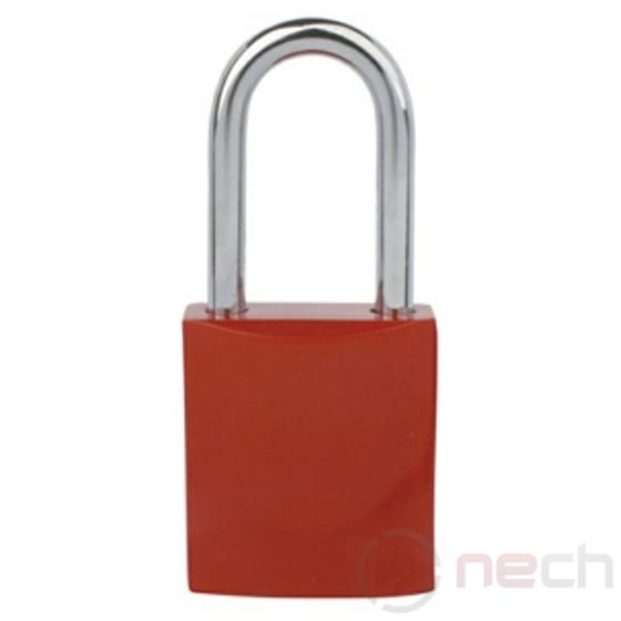 NECH A Széirás LOTO lakat, acél kengyellel és alumínium házzal / Rendelési kód megadással