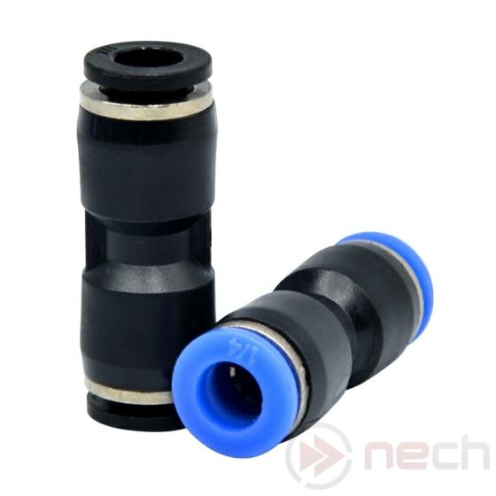 NECH PU06 / Ø6 mm-es egyenes push-in toldó műanyagból