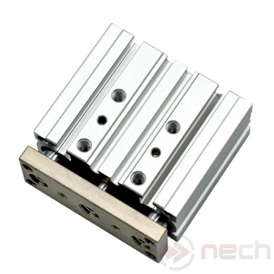 NECH MGPL25-100 / Csereszabatos kompakt vezetett munkahenger / Interchangeable Three-Shaft Cylinder 1
