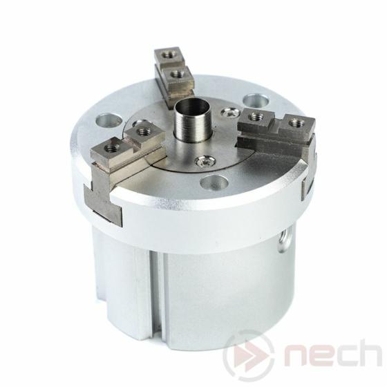 NECH MHS3-80D / Csereszabatos pneumatikus 3 ujjas párhuzamos megfogó munkahenger /NECH MHS3 Series IC 3-Finger Gripper 1