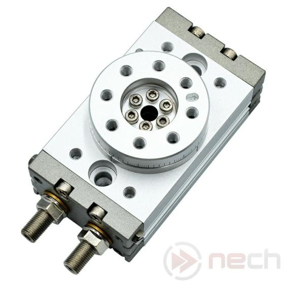 NECH MSQ / Csereszabatos kompakt, fogaskerék-fogasléces forgatómű / Interchangeable Rotary Table / Rotary actuator I