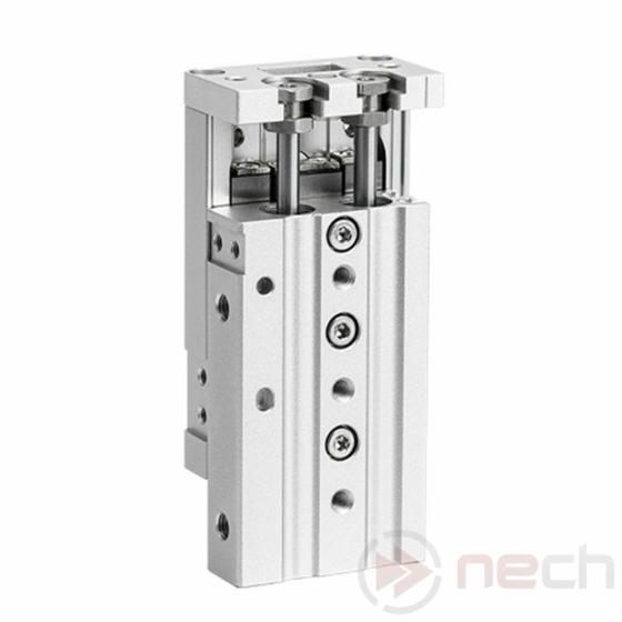 NECH MXS16-100 / Csereszabatos kompakt szán keresztgörgős vezetékkel / NECH MXS Series / Interchangeable Pneumatic Slide Table 1